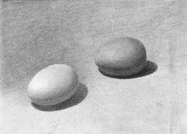 Как рисовать яйцо карандашом